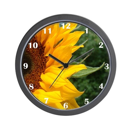 Edge Of A Sunflower Wall Clock