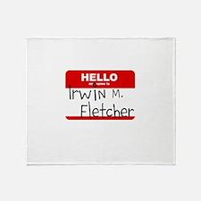 Fletch Name Tag Throw Blanket