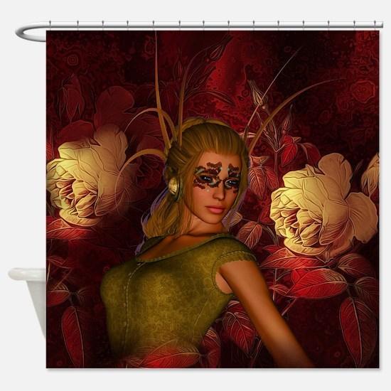 Awesome fantasy women on wonderful floral backgrou