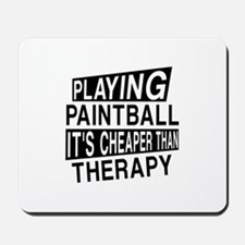 Awesome Paint Ball Player Designs Mousepad