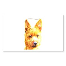 Australian Terrier Rectangle Decal