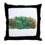 Shade Garden Throw Pillow