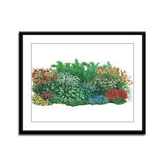 Shade Garden Framed Panel Print