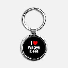 Wagyu Beef Round Keychain