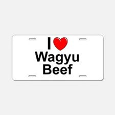 Wagyu Beef Aluminum License Plate