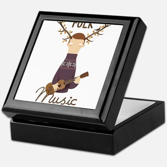 Folk Music Keepsake Box