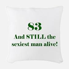 83 Still Sexiest 1C Green Woven Throw Pillow