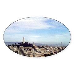 San Fracisco Souvenir Oval Decal