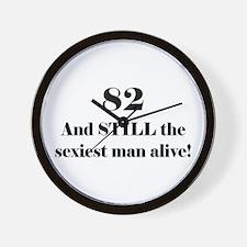 82 Still Sexiest 1C Black Wall Clock
