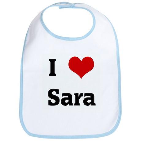 I Love Sara Bib