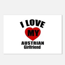 I Love My Austrian Girlfr Postcards (Package of 8)
