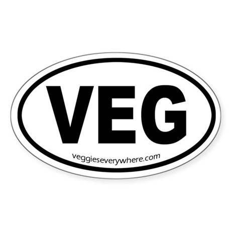 VEG Oval Sticker