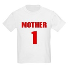 #1 Mother - Jersey Kids T-Shirt