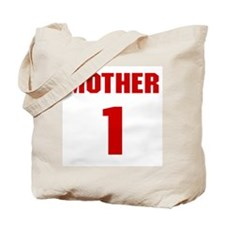 #1 Mother - Jersey Tote Bag