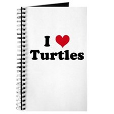 Cute I love turtles Journal
