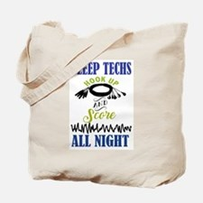 Sleep Techs Hook Up and Score All Night Tote Bag