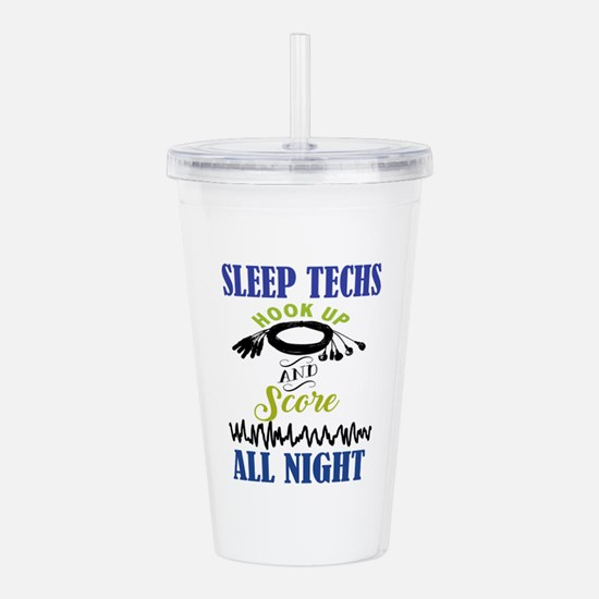 Sleep Techs Hook Up Acrylic Double-Wall Tumbler