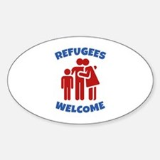 Refugees Welcome Sticker (Oval)