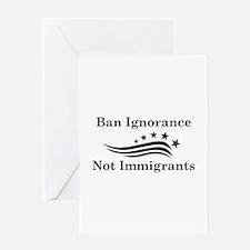 Ban Ignorance Greeting Card