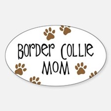 Border Collie Mom Oval Decal