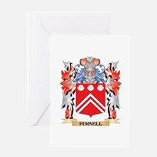 Purnell Coat of Arms - Family Crest Greeting Cards