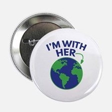 """I'm With Her 2.25"""" Button"""
