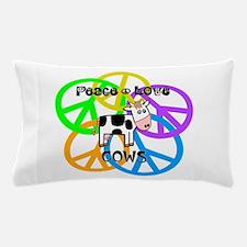 Peace Love Cows Pillow Case