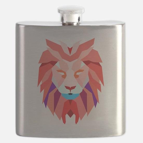 Polygonal Lion Flask