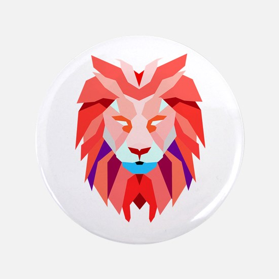 Polygonal Lion Button