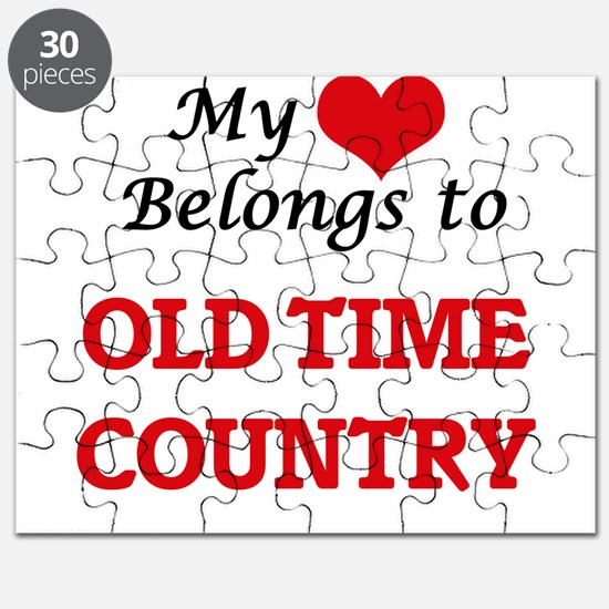 My heart belongs to Old Time Country Puzzle