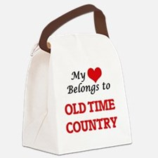 My heart belongs to Old Time Coun Canvas Lunch Bag