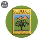 "Boulder Genealogical Society 3.5"" Button (10"