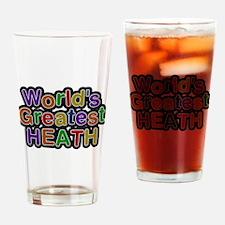 Worlds Greatest Heath Drinking Glass