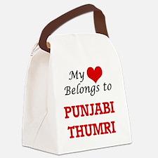 My heart belongs to Punjabi Thumr Canvas Lunch Bag