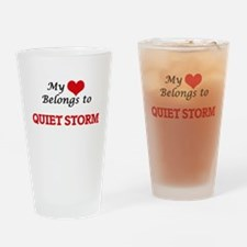 My heart belongs to Quiet Storm Drinking Glass