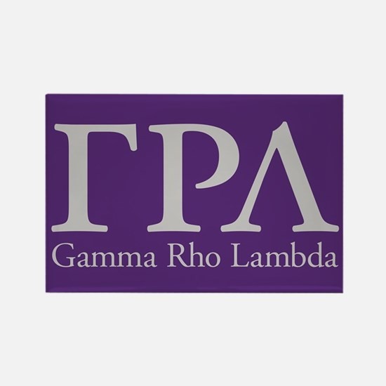 Gamma Rho Lambda Letters Rectangle Magnet