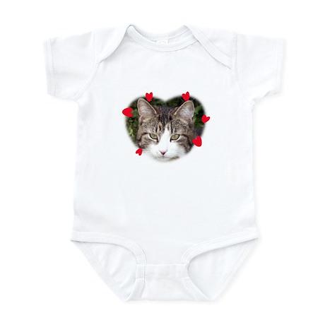 Love Hearts Cat Infant Creeper