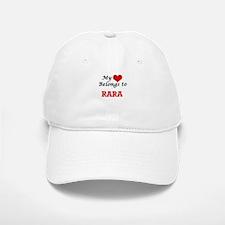 My heart belongs to Rara Baseball Baseball Cap