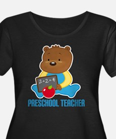 Preschool Teacher Bear Plus Size T-Shirt