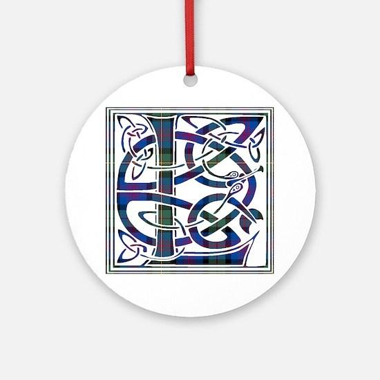 Monogram - Logan Ornament (Round)