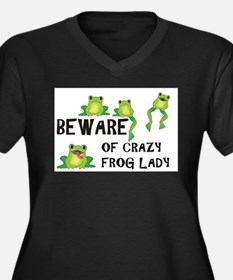 Beware of Crazy Frog Lady Plus Size T-Shirt