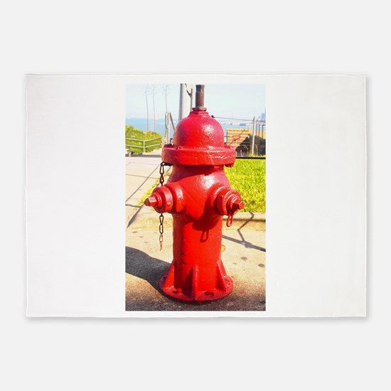 Alcatraz Hydrant 5'x7'Area Rug