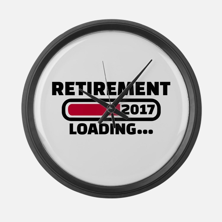 Retirement 2017 Large Wall Clock