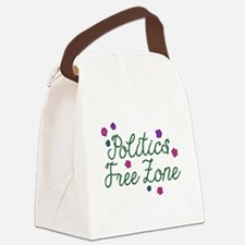Politics Free Zone Flowers Canvas Lunch Bag