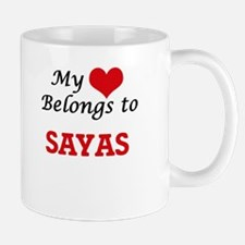 My heart belongs to Sayas Mugs