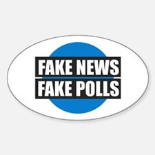 FAKE NEWS FAKE POLLS Decal