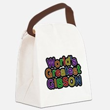 Worlds Greatest Gibson Canvas Lunch Bag