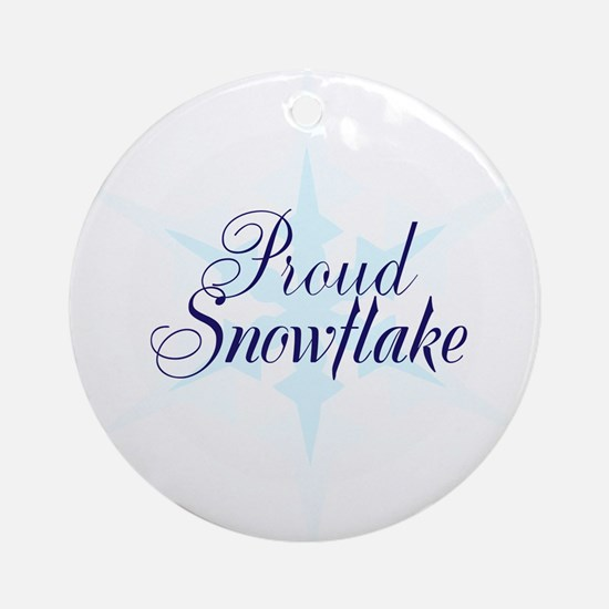 Proud snowflake, no trump Round Ornament