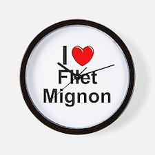 Filet Mignon Wall Clock