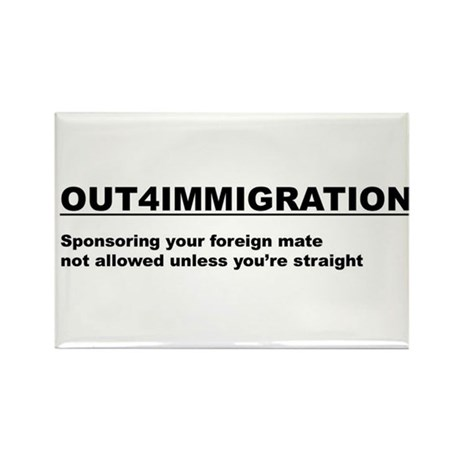 Out4Immigration Rectangle Magnet